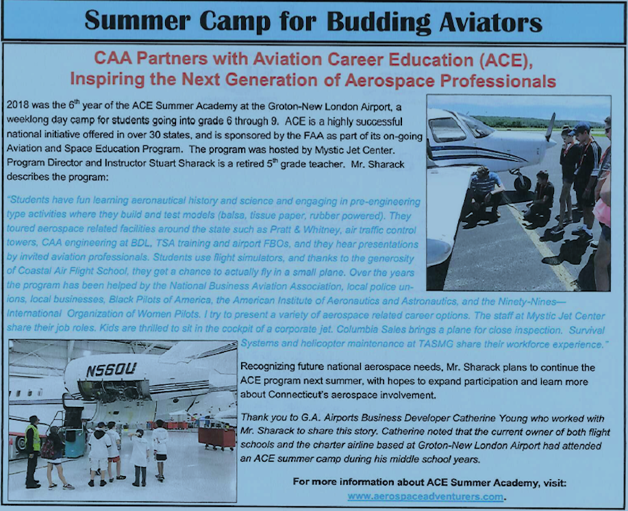 Aviation - summer camp- article